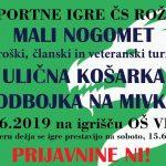 3. ŠPORTNE IGRE ČS ROŽNIK - 8.6.19.