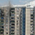 Požar v stolpnici na Fužinah