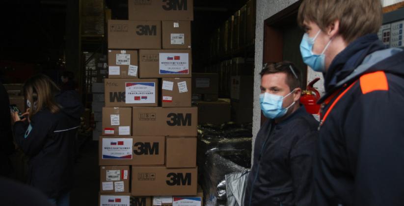 Ljubljana dobila v dar zaščitne maske iz Šanghaja