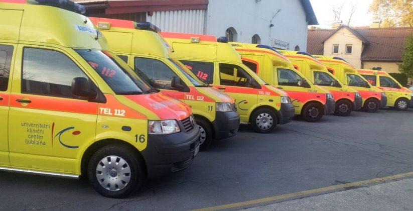 Reševalno vozilo na nujni vožnji